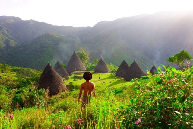Sepenggal ketenangan di indahnya alam kampung Waerebo, Nusa Tenggara Timur. (dok.pri)