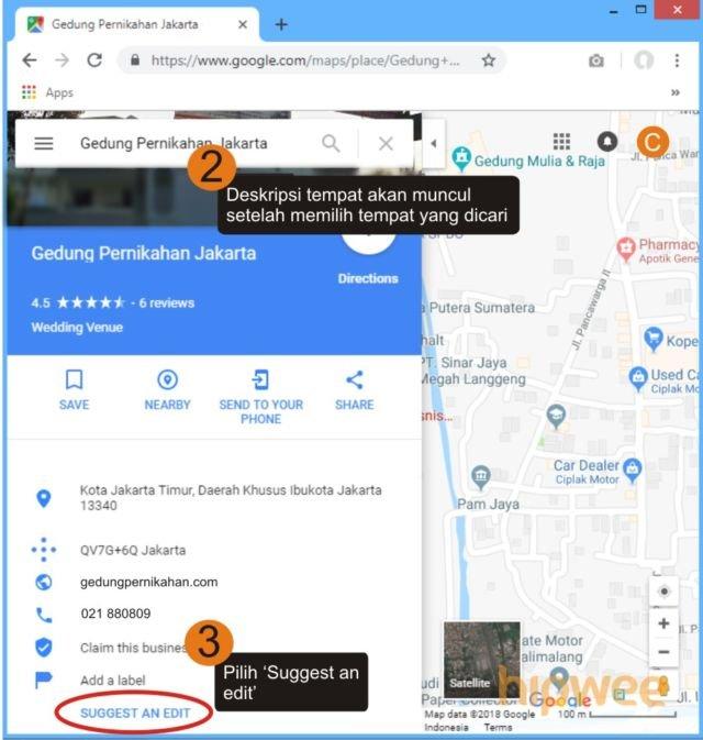 google maps kan kasihan