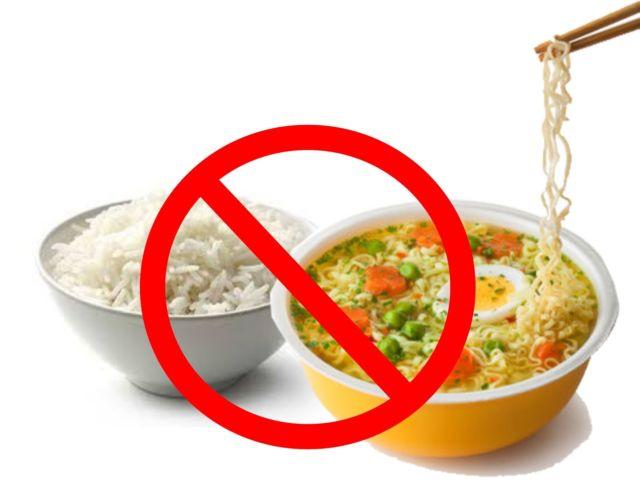 bahaya mie dicampur nasi