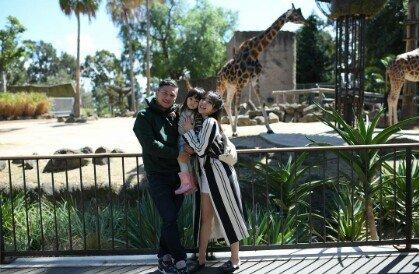 Foto liburan Gading dikebun binatang Melbourne