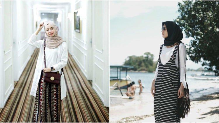 10 Gaya Hijab Pakai Kaus Putih Dan Outer Nyaman Dikenakan Tanpa Takut Menerawang