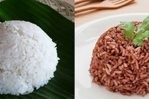 Nasi Putih dan Merah