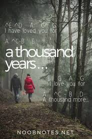A thousan years song