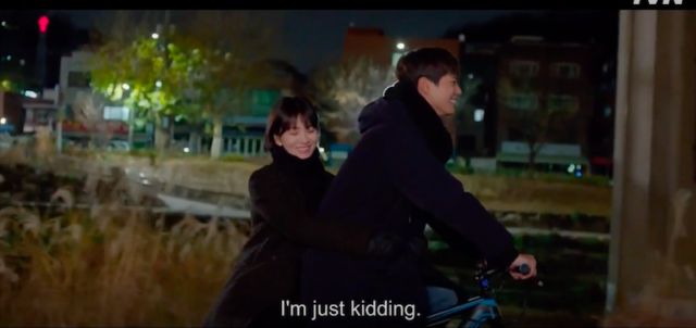 Adegan bersepeda Soo Hyun dan Jin Hyeok