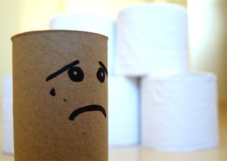 Tisu toilet menangis