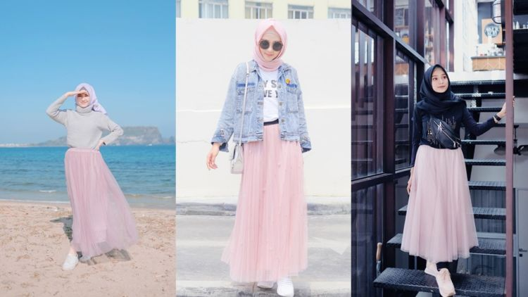 Inilah 10 Tampilan Cantik Hijaber Pakai Rok Tutu Panjang Bisa Jadi