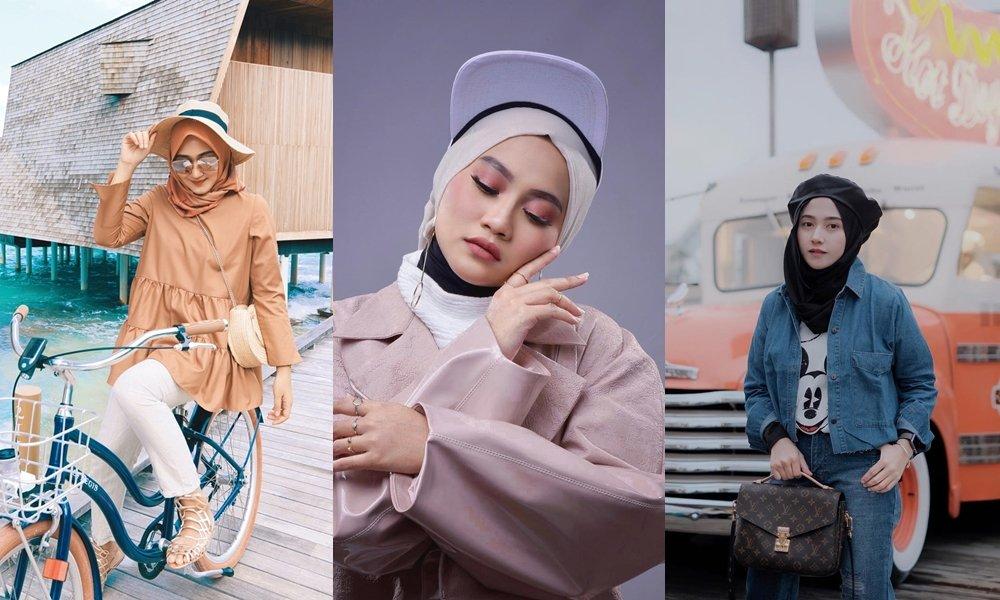 12 Gaya Hijab Yang Secara Kreatif Bertambah Manis Saat Dipadu Dengan Topi Nyeni