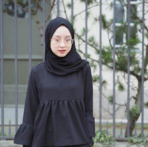 Style hijab simple Gita Savira Devi