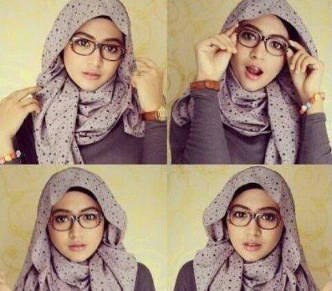 Gambar tutorial hijabers berkacamata