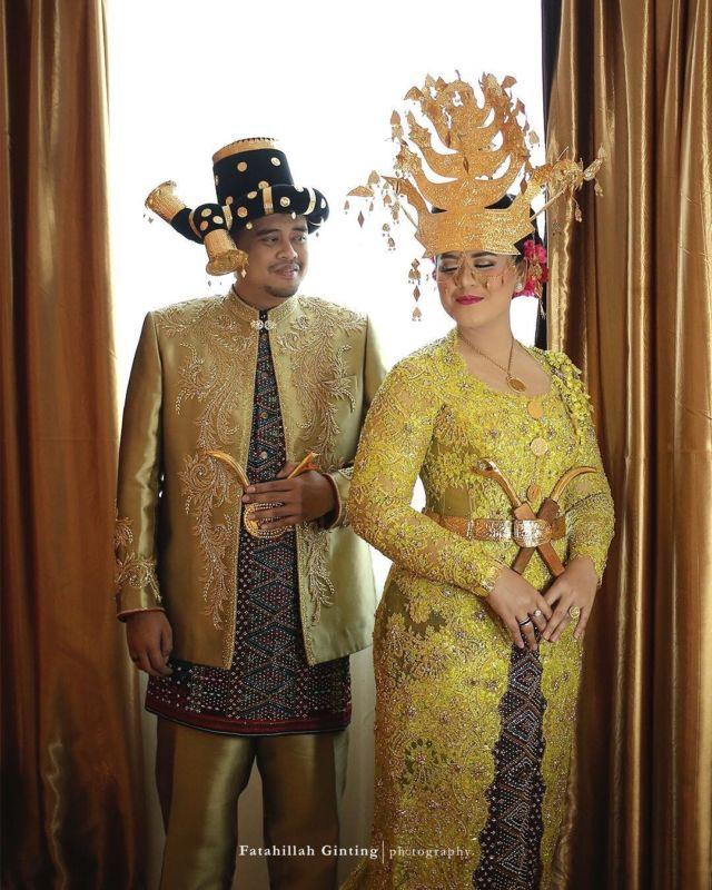 10 Potret Memukau Pengantin Dari Pulau Sumatera Pandangan Tak Bisa Beralih Dari Indahnya Mahkota Mereka