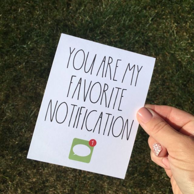 You are my favorite notification