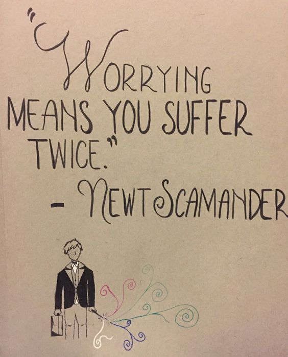 Worrying means suffering