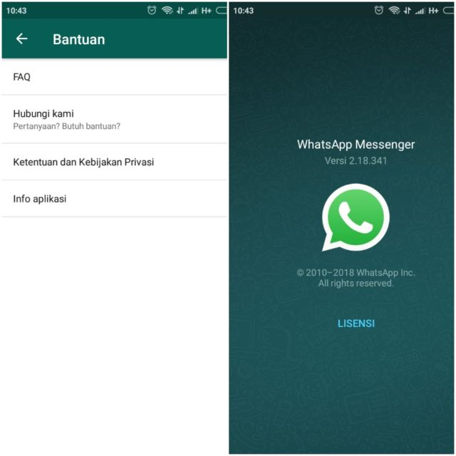 Versi Aplikasi Whatsapp