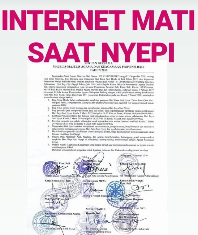 Hanya Sunyi, Internetpun Mati
