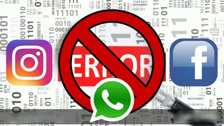 Image result for facebook whatsapp instagram all error pic