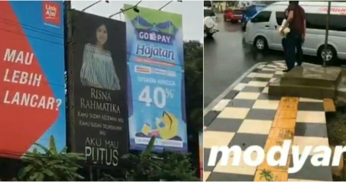 Putusin Pacar Pakai Baliho Super Gede Warganet Curiga Ini Settingan Ah Masa Sih