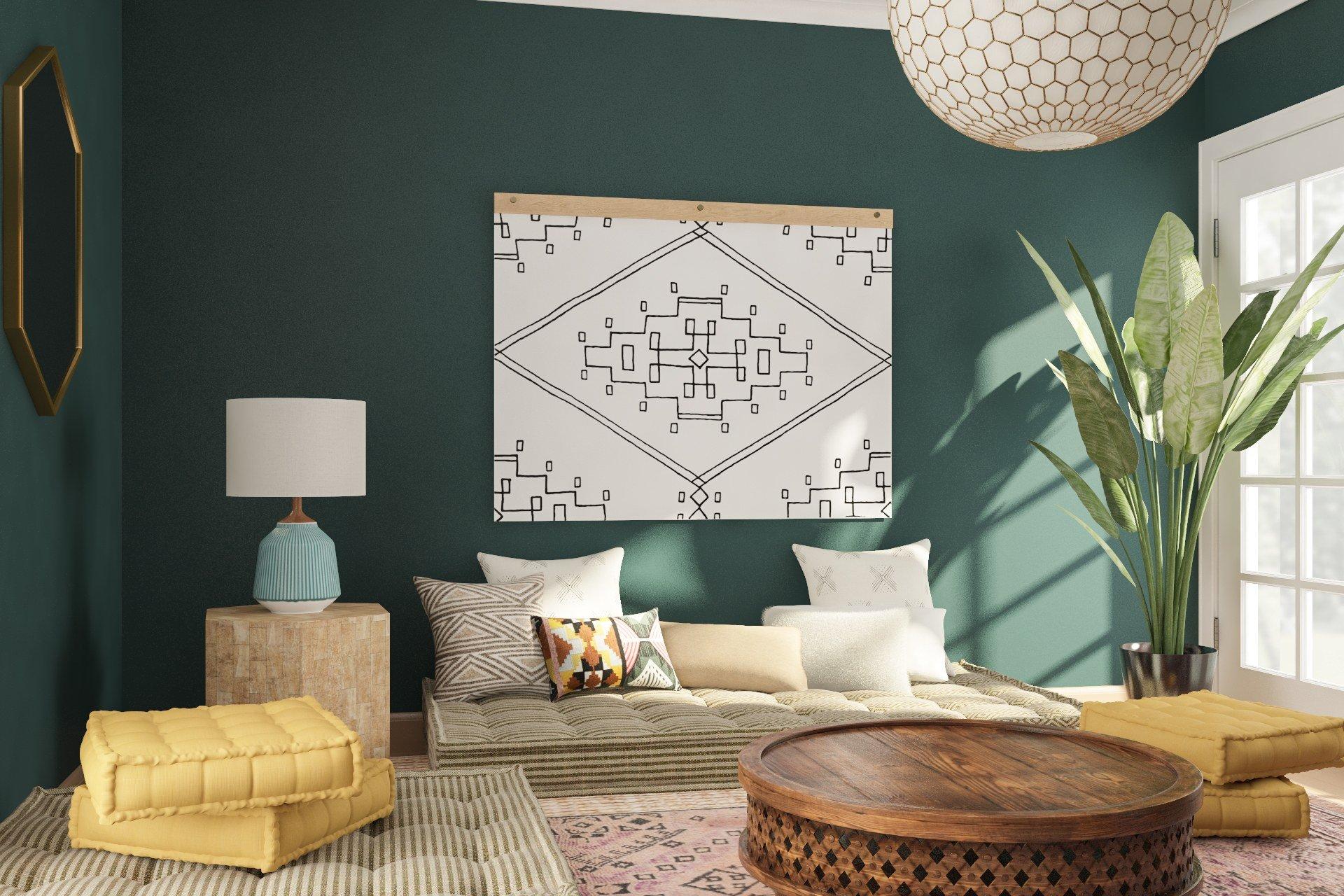 12 Inspirasi Ruang Tamu Lesehan Tanpa Sofa Elegan Nggak Kayak Acara Selamatan Kok