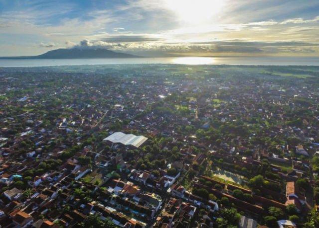 Kota Banyuwangi dari Langit