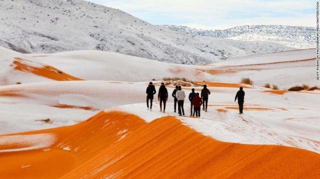 snow in sahara