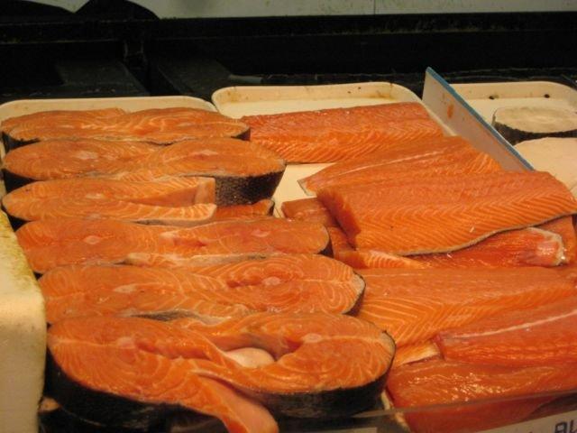 Daging ikan salmon