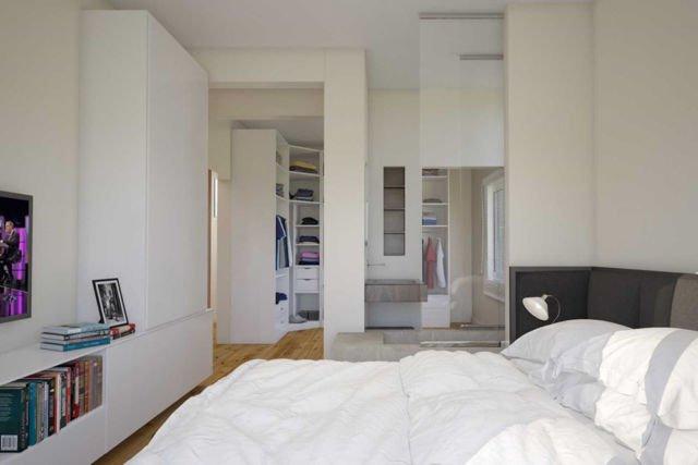 Kamar tidur cowok Apartment Interior di Jakarta karya JR Design