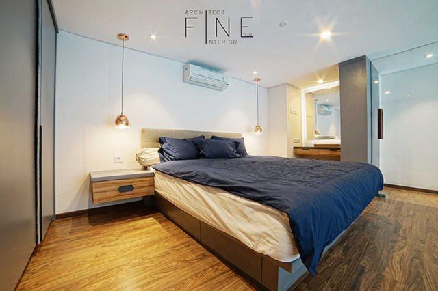 Kamar tidur cowok Brooklyn Soho & Apartment di Tangerang karya Fine Team Studio