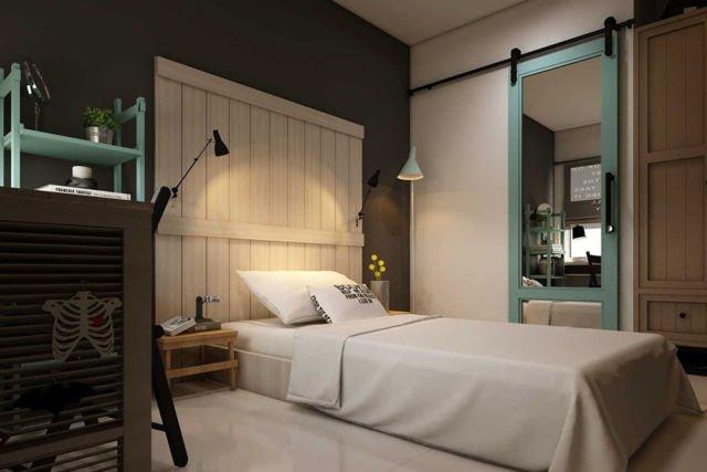 Kamar tidur cowok Dormitory di Bandung karya La.Casa