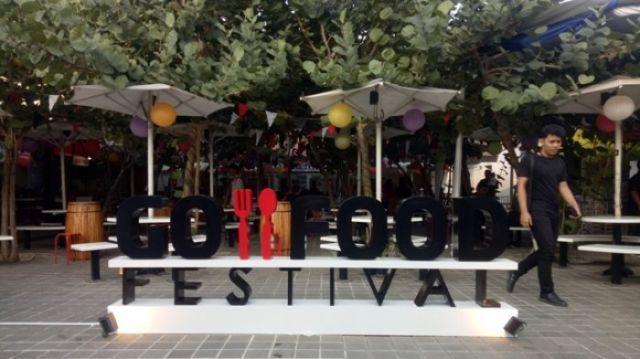 Salah satu area Go-Food Festival