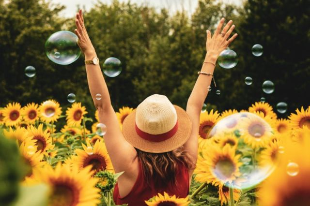 photography-of-woman-surrounded-by-sunflowers-1263986/