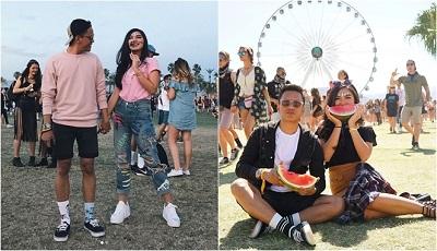 gaya Arief Muhammad di Coachella