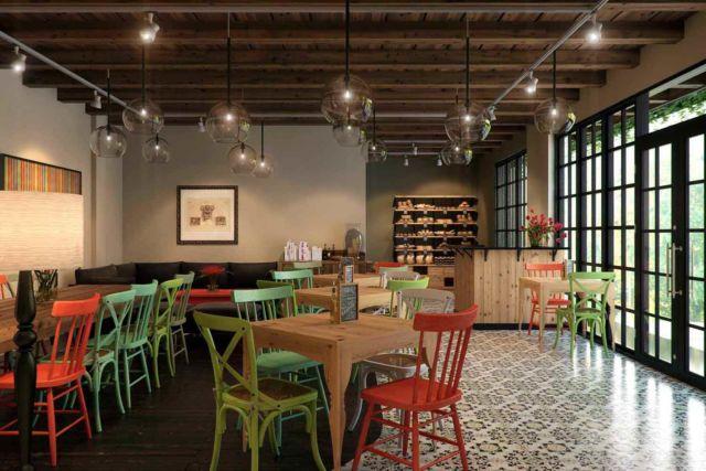 Desain kafe Basilia di Semarang karya Design Archade