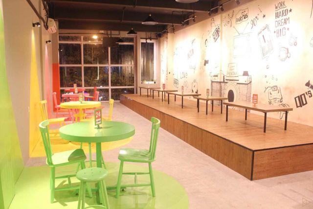 Desain kafe 90's Flazback di Tangerang karya TIES Design & Build
