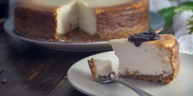 Sepotong cheesecake