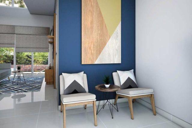 Desain interior warna biru Depok Mulya di Depok karya Vivame Design