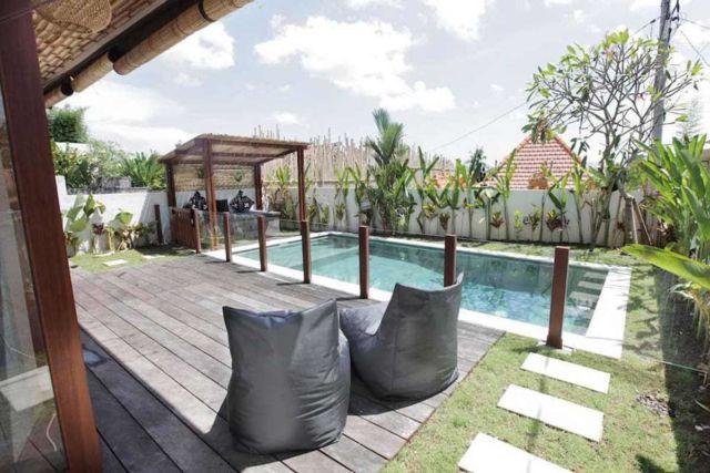 Desain gazebo taman minimalis Villa Pererenan di Bali karya HG ARCHITECTS & DESIGNERS ASSOCIATES