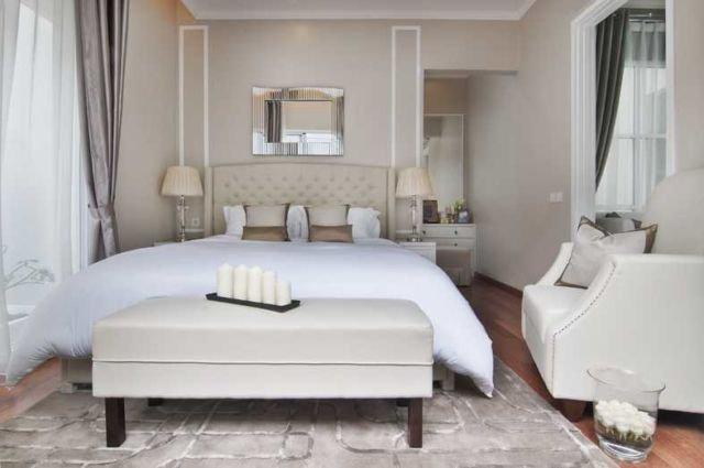 Bangku di ujung tempat tidur dalam proyek Whitsand, karya: Cipta Desain Arsitektur Mandiri