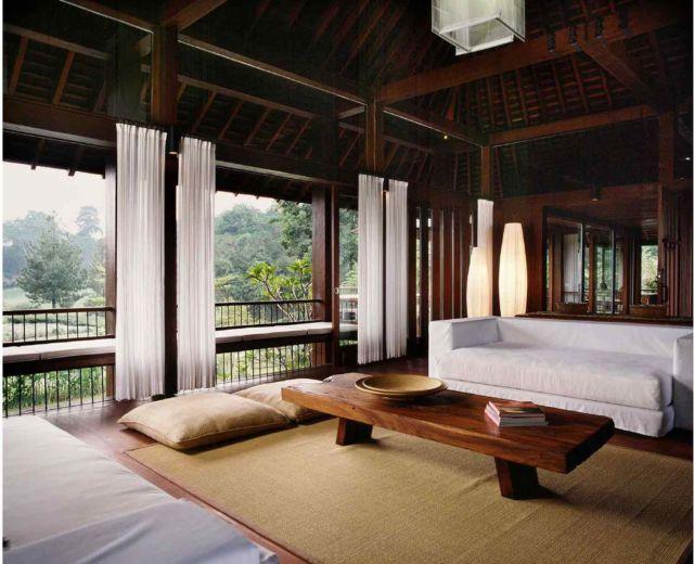 Ruang keluarga tradisional ala Jepang, proyek AK house oleh Studio Air Putih