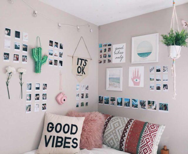 Interior rumah instagramable menggunakan dekorasi foto polaroid