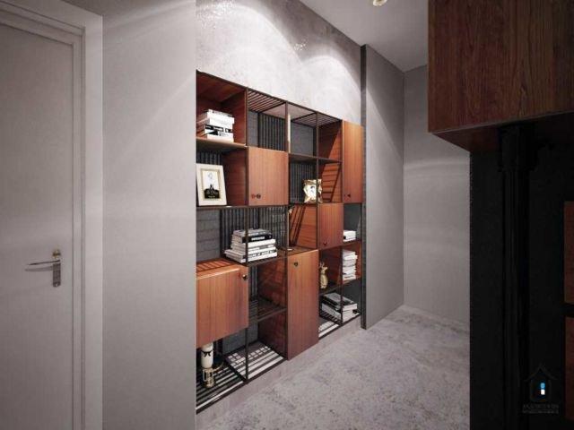 Dinding rumah yang instagramable dengan frameless cabinet di  Kemurnian House karya Aru Interior
