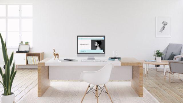 Ruang Kerja Minimalis Serba Putih