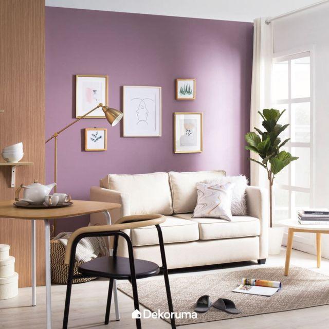 Ruang Keluarga Warna Ungu Pastel