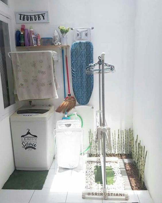10 Ide Penataan Ruang Cuci Jemur Di Belakang Rumah Meski Sempit Tetap Utamakan Kebersihan