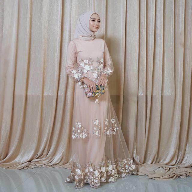 68 Model Baju Gamis Modern Terkeren 2019