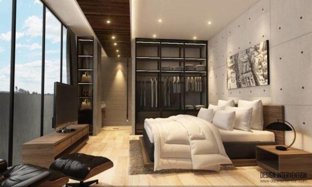 Nuansa warna putih untuk kamar tidur nyaman, desain J House karya Design Intervention