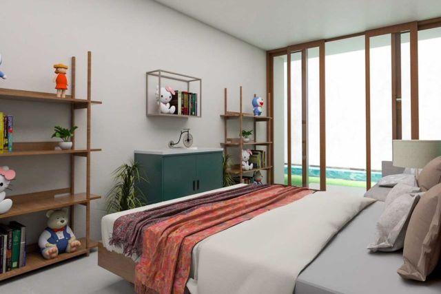 Kamar tidur Tebet Barat Dalam Residence di Jakarta karya Archipelago Interior Design & Construction