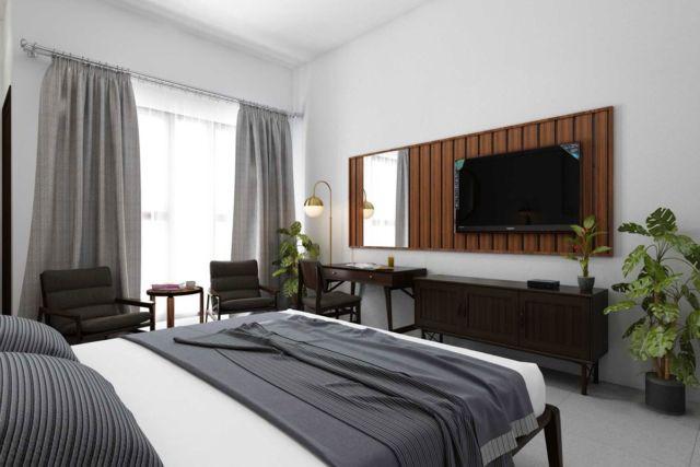 Kamar tidur Yudhistira Hotel di Jateng karya Design Archade