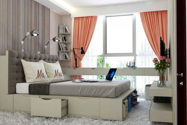 Kamar tidur AN's Apartment di Jakarta karya Tridivan Architama