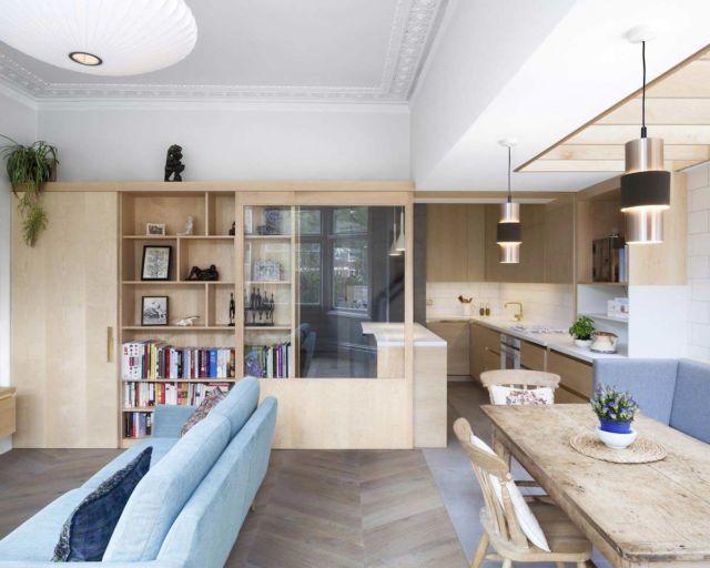 Apartemen mungil dengan konsep open-plan
