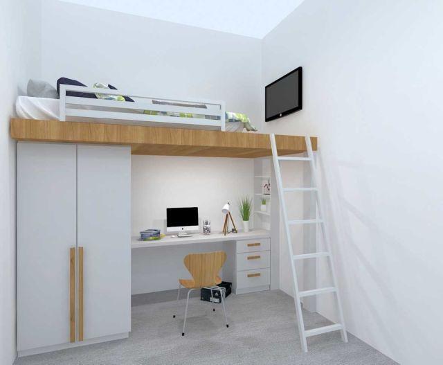 Bunk bed merupakan pilihan tepat untuk apartemen mungil