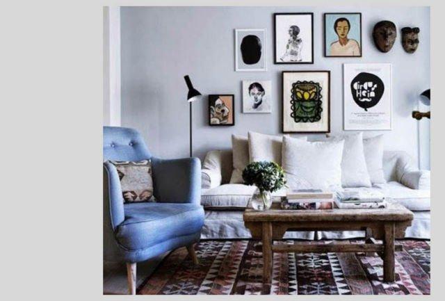 Perminan visual interest dalam apartemen mungil